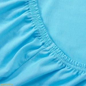 Простынь-наматрасник на резинке ТексДизайн 120х200 голубой