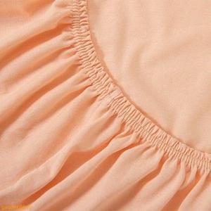 Простыня - наматрасник на резинке ТексДизайн 160х200 персиковый