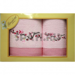 Набор полотенец Вет.сакуры 2шт 45х90 65х135 розовый